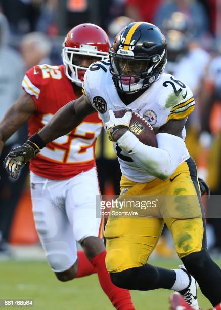 Pittsburgh Steelers running back Le'Veon Bell finds running room for part of his 179 yards in a week 6 NFL game between the Pittsburgh Steelers and...