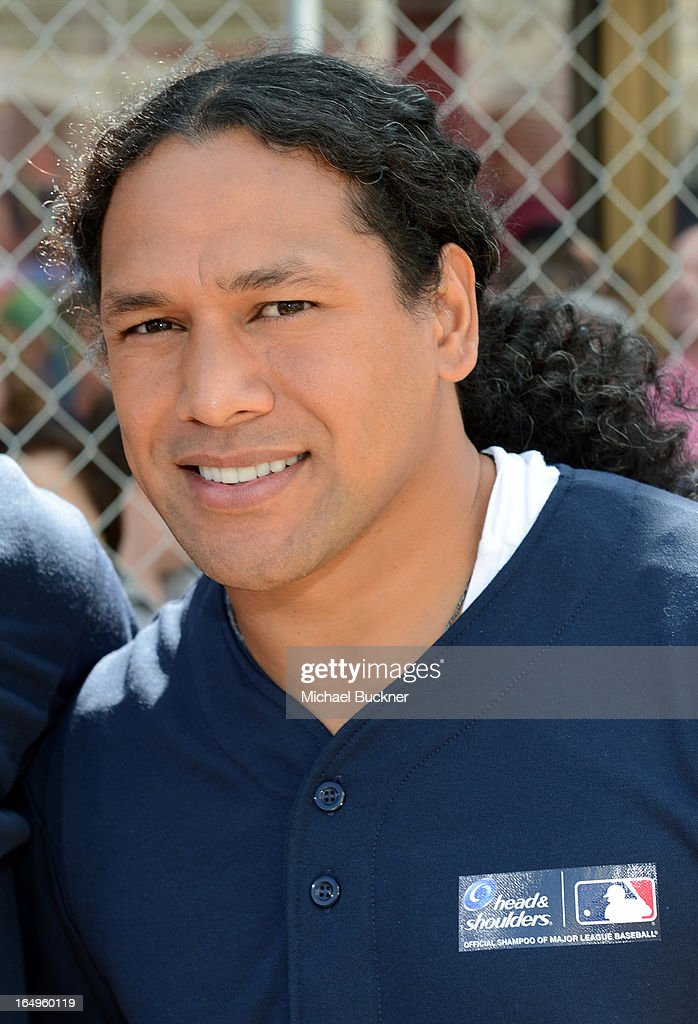 Pittsburgh Steelers Troy Polamalu launches Head and Shoulders first ever 'Whiff-A-Thon' event to launch the Season of the Whiff campaign. For every 'whiff' (strikeout) during the 2013 regular MLB season, Head & Shoulders will make a $1 donation to Reviving Baseball in Inner Cities, at The Grove on March 29, 2013 in Los Angeles, California.