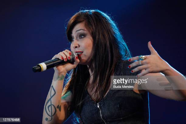 Pitty performs on stage during a concert in the Rock in Rio Festival on September 29 2011 in Rio de Janeiro Brazil Rock in Rio Festival comes back to...