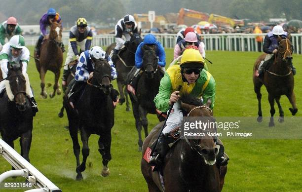Pivotal Point ridden by Seb Sanders wins The GNER Diadem Stakes at Ascot races