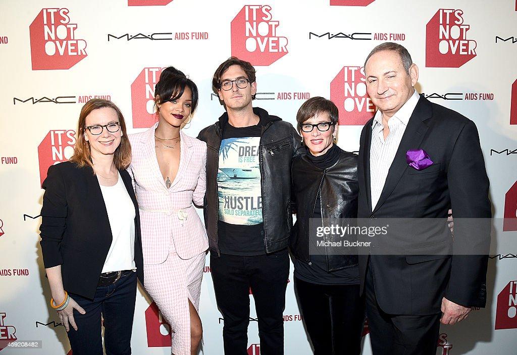 Pivot's Belisa Balaban MAC Viva Glam Spokesperson Rihanna Filmmaker Andrew Jenks Global Executive Director of MAC AIDS Fund Nancy Mahon Chairman of...