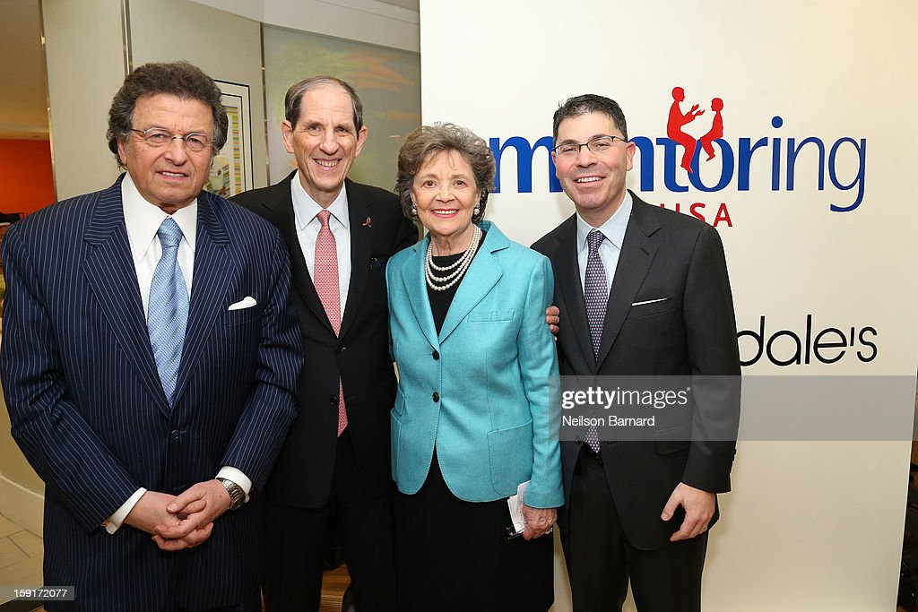 Pix11 Weatherman Mr G, Bloomingdale's CEO Michael Gould, Mentoring USA Founder <a gi-track='captionPersonalityLinkClicked' href=/galleries/search?phrase=Matilda+Cuomo&family=editorial&specificpeople=651332 ng-click='$event.stopPropagation()'>Matilda Cuomo</a> and Bloomingdale's President Tony Spring attend Bloomingdale's 59th St. and Mentoring USA's celebration of National Mentoring Month on January 9, 2013 in New York City.