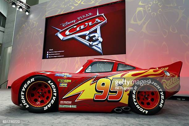 Pixar Animation Studios debuts a lifesize version of 'Lightning McQueen' one of the stars of the new Pixar movie 'Cars 3' at the 2017 North American...