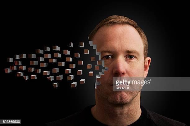 Cara de píxeles