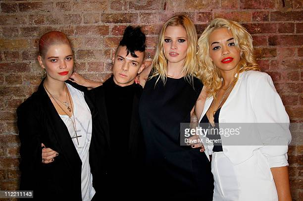 Pixie Geldof Aaron Fre Lara Stone and Rita Ora at MTV PUSH with ck one PARTY on April 14 2011 in London England