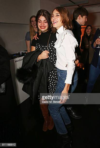 Pixie Geldof and Alexa Chung attend a party hosted by Marks and Spencer The British Fashion Council and Alexa Chung to kick off London Fashion Week...
