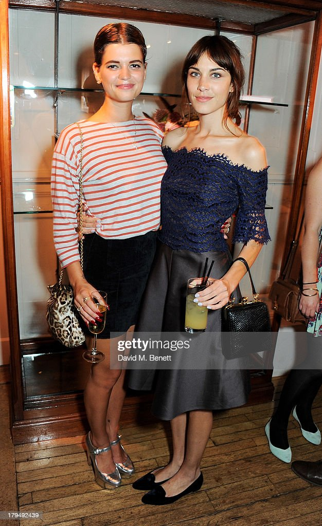 Pixie Geldof (L) and Alexa Chung attend the launch of Alexa Chung's first book 'It' at Liberty on September 4, 2013 in London, England.