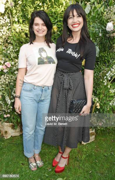 Pixie Geldof and Daisy Lowe attend the ALEXACHUNG London Launch Summer 17 Collection Reveal at the Danish Church of Saint Katharine on May 30 2017 in...