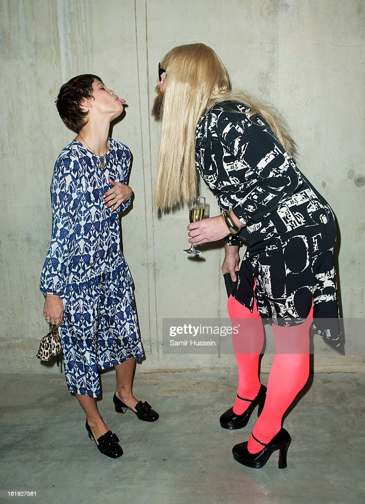 Pixie Geldof and Guest attend the Topshop Unique show at the Tate Modern during London Fashion Week Fall/Winter 2013/14 on February 17, 2013 in London, England.