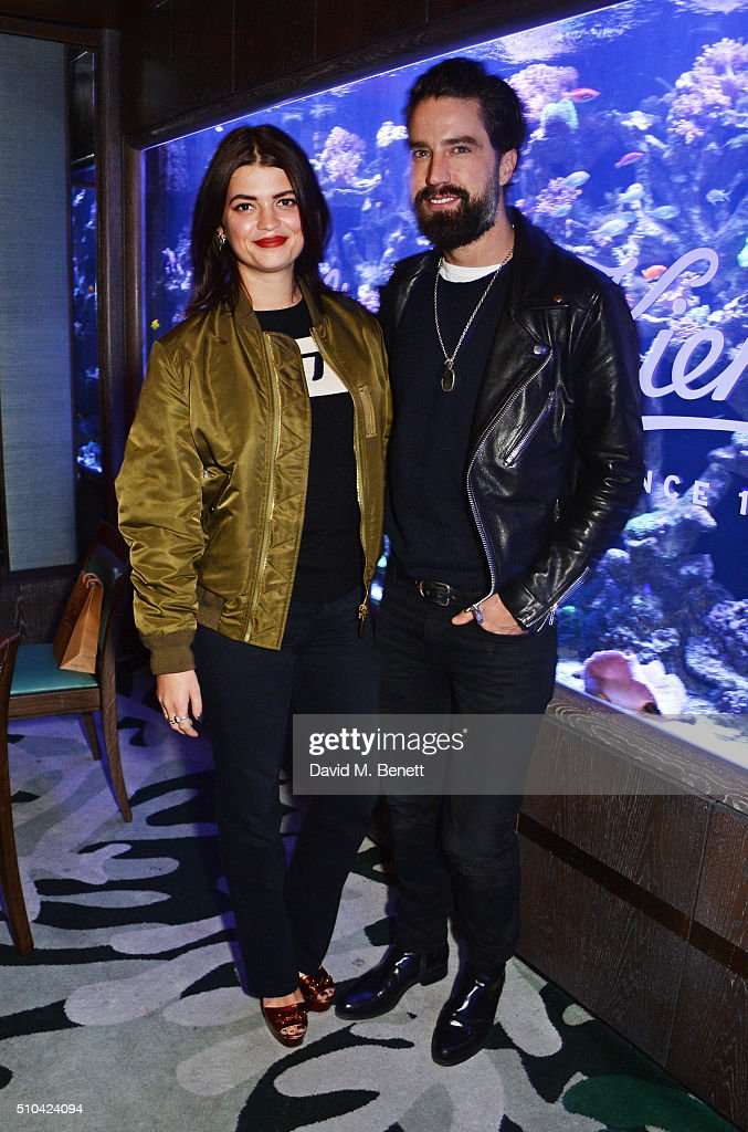 Pixie Geldof and Jack Guinness attend the Kiehl's VIP dinner hosted by Pixie Geldof and Jack Guinness at Sexy Fish on February 15 2016 in London...