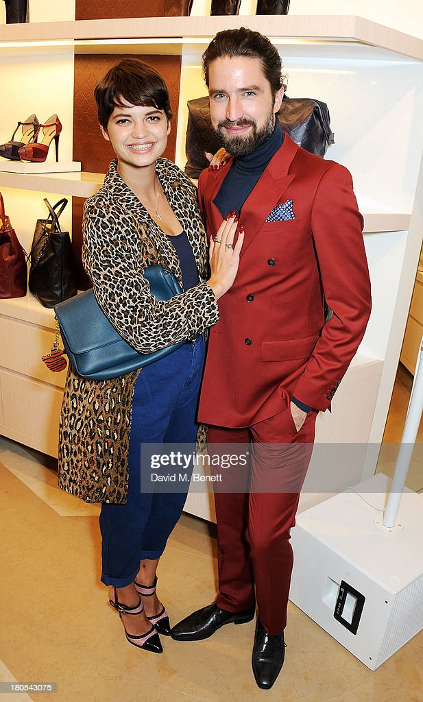 Pixie Geldof (L) and Jack Guinness attend the launch of the Longchamp London flagship store on September 14, 2013 in London, England.