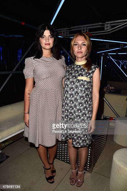 Pixie Geldof and Josephine de la Baume attend the Miu Miu Club launch of the first Miu Miu fragrance and croisiere 2016 collection Palais d'Iena on...