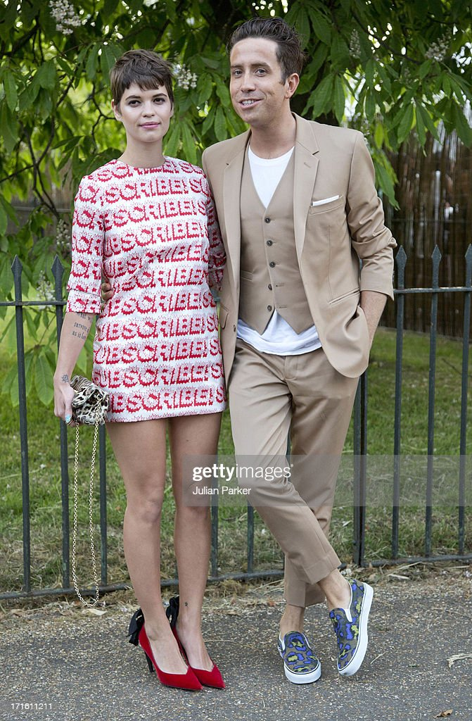 Pixie Geldof, and Nick Grimshaw attend the annual Serpentine Gallery summer party at The Serpentine Gallery on June 26, 2013 in London, England.