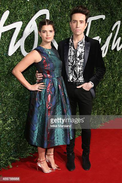 Pixie Geldof and Nick Grimshaw attend the British Fashion Awards at London Coliseum on December 1 2014 in London England