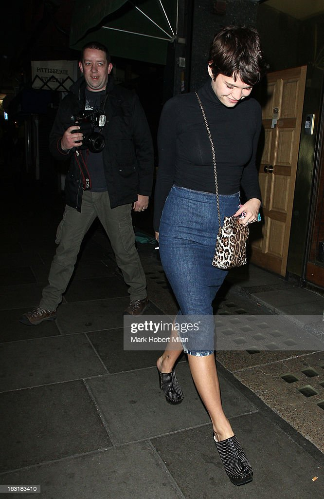 Pixie Geldof at the Groucho club on March 5, 2013 in London, England.