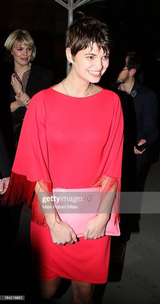 Pixie Geldof at the private view of 'David Bowie Is' at Victoria & Albert Museum on March 20, 2013 in London, England.