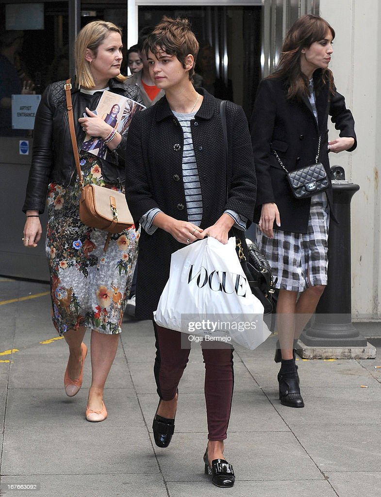 Pixie Geldof at The Vogue Festival 2013, Queen Elizabeth Hall, Southbank Centre on April 27, 2013 in London, England.