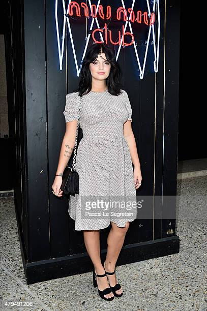 Pixie Geldof attend the Miu Miu Club Launch Of the First Miu Miu Fragrance And Croisiere 2016 Collection at Palais d'Iena on July 4 2015 in Paris...