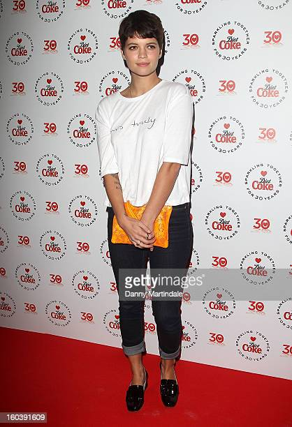 Pixie Geldof attends a party hosted by Diet Coke at Sketch on January 30 2013 in London England