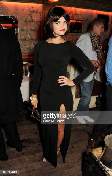 Pixie Geldof attends Fran Cutler's surprise birthday party supported by ABSOLUT Elyx at The Box Soho on April 30 2013 in London England