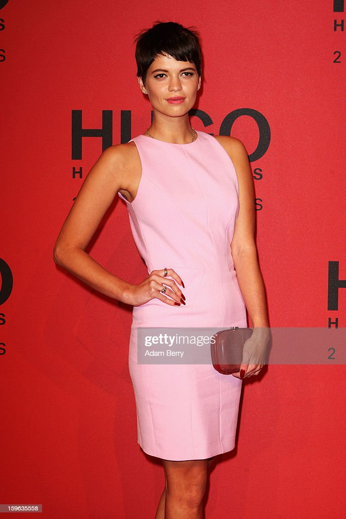 <a gi-track='captionPersonalityLinkClicked' href=/galleries/search?phrase=Pixie+Geldof&family=editorial&specificpeople=208703 ng-click='$event.stopPropagation()'>Pixie Geldof</a> attends Hugo By Hugo Boss Autumn/Winter 2013/14 fashion show during Mercedes-Benz Fashion Week Berlin at The Brandenburg Gate on January 17, 2013 in Berlin, Germany.