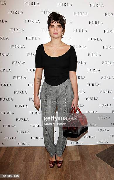 Pixie Geldof attends the Furla flagship store reopening on November 21 2013 in London England