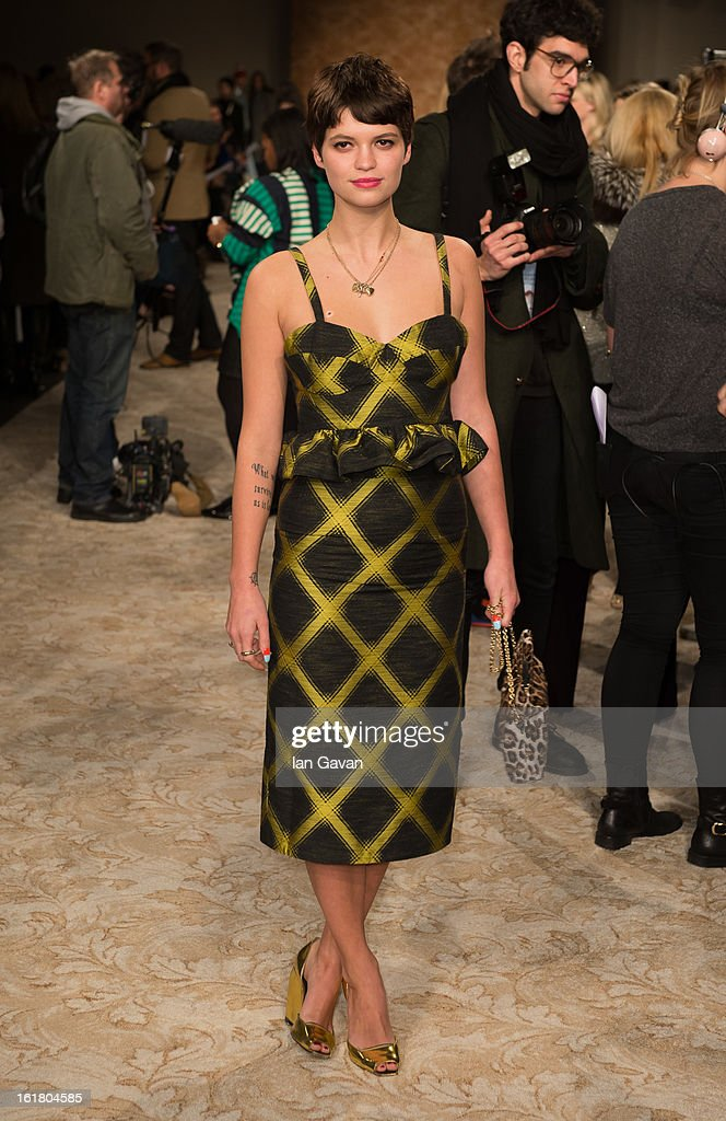 <a gi-track='captionPersonalityLinkClicked' href=/galleries/search?phrase=Pixie+Geldof&family=editorial&specificpeople=208703 ng-click='$event.stopPropagation()'>Pixie Geldof</a> attends the House of Holland show during London Fashion Week Fall/Winter 2013/14 at Brewer Street Car Park on February 16, 2013 in London, England.