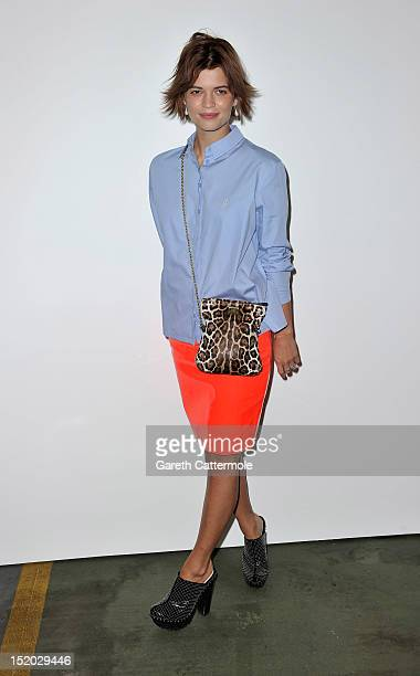 Pixie Geldof attends the House Of Holland show on day 2 of London Fashion Week Spring/Summer 2013 at Brewer St Car Park on September 15 2012 in...