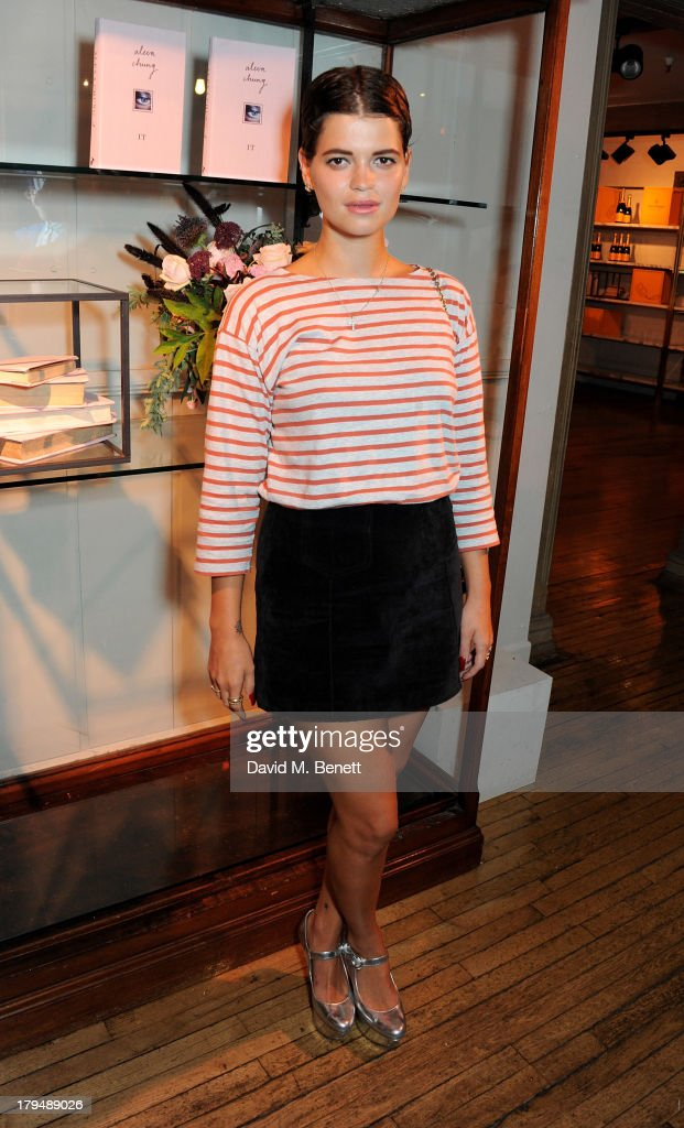 <a gi-track='captionPersonalityLinkClicked' href=/galleries/search?phrase=Pixie+Geldof&family=editorial&specificpeople=208703 ng-click='$event.stopPropagation()'>Pixie Geldof</a> attends the launch of Alexa Chung's first book 'It' at Liberty on September 4, 2013 in London, England.