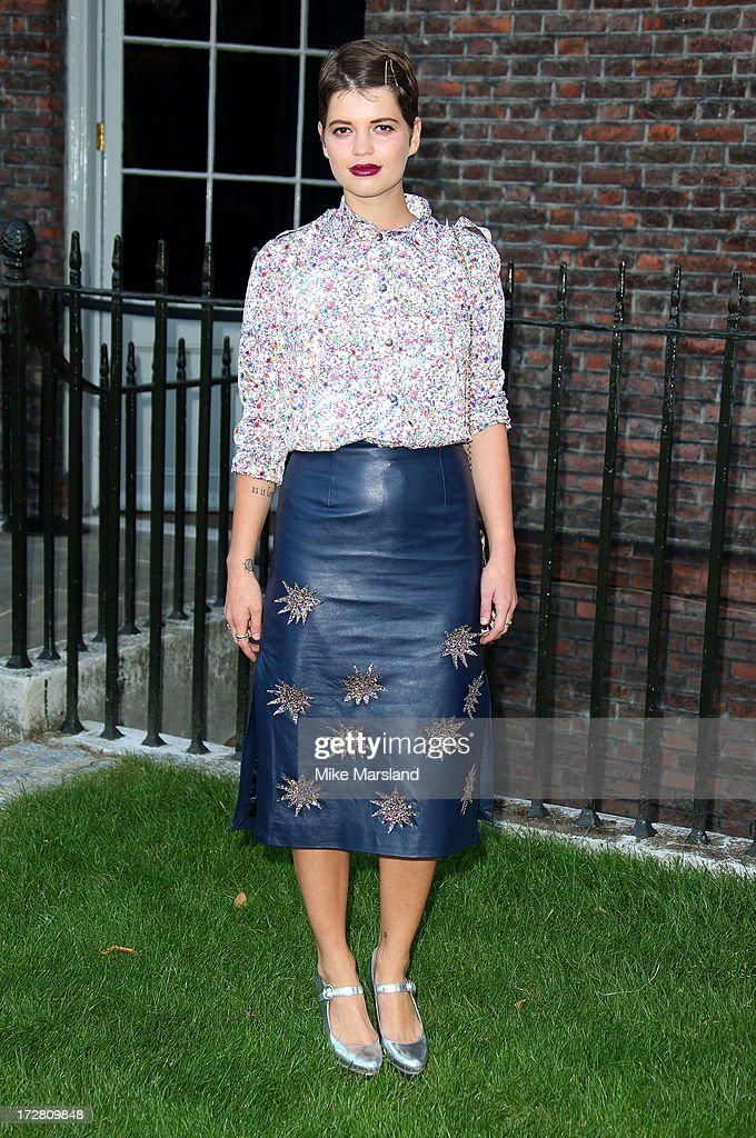 <a gi-track='captionPersonalityLinkClicked' href=/galleries/search?phrase=Pixie+Geldof&family=editorial&specificpeople=208703 ng-click='$event.stopPropagation()'>Pixie Geldof</a> attends the launch party for the Fashion Rules exhibition, a collection of dresses worn by HRH Queen Elizabeth II, Princess Margaret and Diana, Princess of Wales at Kensington Palace on July 4, 2013 in London, England.