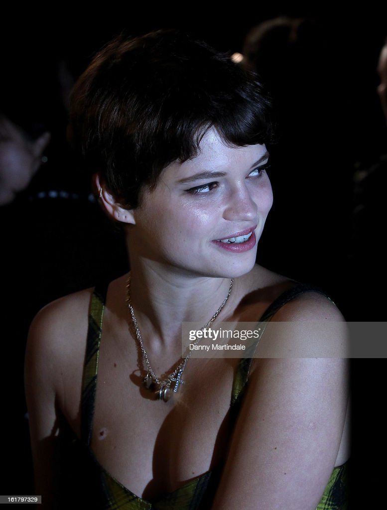 Pixie Geldof attends the Moschino cheap&chic show during London Fashion Week Fall/Winter 2013/14 at The Savoy Hotel on February 16, 2013 in London, England.