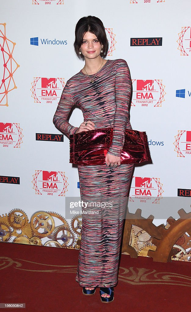 Pixie Geldof attends the MTV EMA's 2012 at Festhalle Frankfurt on November 11, 2012 in Frankfurt am Main, Germany.