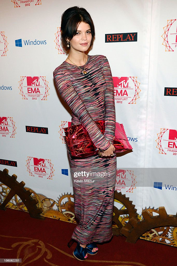 Pixie Geldof attends the MTV EMA's 2012 at Festhalle Frankfurt on November 11, 2012 in Frankfurt am Main, Germany.