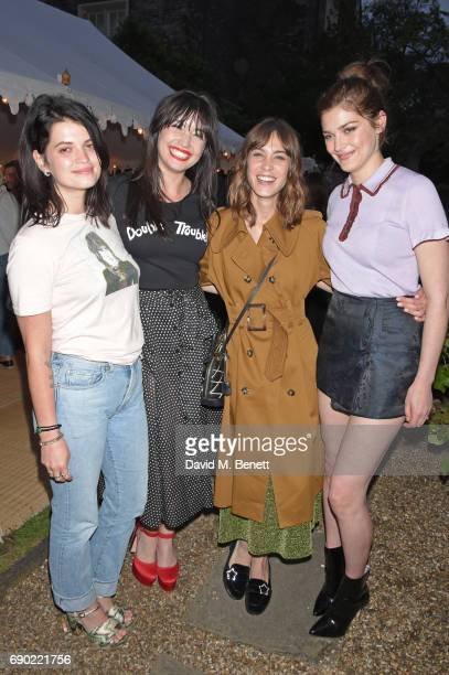 Pixie Geldof Daisy Lowe Alexa Chung and Amber Anderson attend the ALEXACHUNG London Launch Summer 17 Collection Reveal at the Danish Church of Saint...