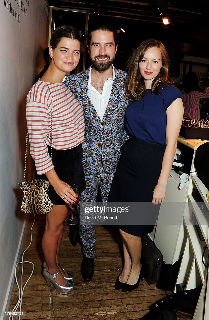 Pixie Geldof, Jack Guinness and Lou Hayter attend the launch of Alexa Chung's first book 'It' at Liberty on September 4, 2013 in London, England.