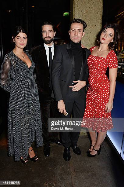 Pixie Geldof Jack Guinness Nick Grimshaw and Daisy Lowe attend the GQ London Collections Men AW15 closing dinner at Hakkasan Hanway Place on January...