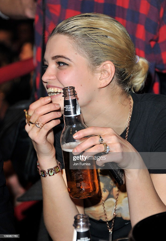 Pixie Gelfdof smiles at the NME Awards 2011 at Brixton Academy on February 23, 2011 in London, England.
