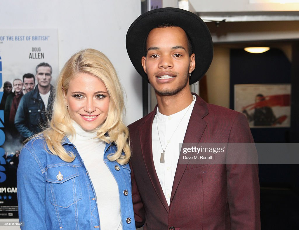 Pixie Lott (L) and Harley 'Sylvester' Alexander-Sule attend the UK Premiere of 'The Guvnors' at Odeon Covent Garden on August 27, 2014 in London, England.