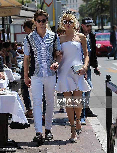 Pixie Lott and Oliver Cheshire are seen at the 69th Annual Cannes Film Festival on May 15 2016 in Cannes France