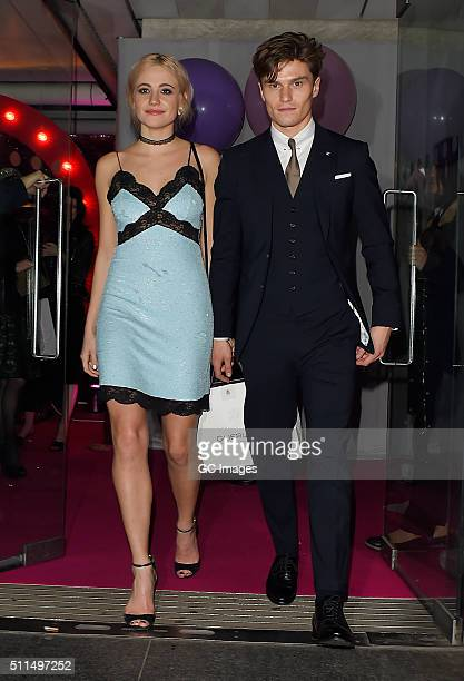 Pixie Lott and Oliver Cheshire attend Naked Heart Foundation Fabulous Fund Fair at Old Billingsgate Market on February 20 2016 in London England