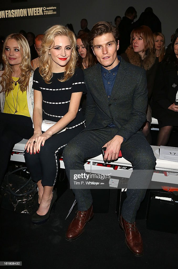 <a gi-track='captionPersonalityLinkClicked' href=/galleries/search?phrase=Pixie+Lott&family=editorial&specificpeople=5591168 ng-click='$event.stopPropagation()'>Pixie Lott</a> (L) and <a gi-track='captionPersonalityLinkClicked' href=/galleries/search?phrase=Oliver+Cheshire&family=editorial&specificpeople=7407100 ng-click='$event.stopPropagation()'>Oliver Cheshire</a> attend the David Koma show during London Fashion Week Fall/Winter 2013/14 at Somerset House on February 16, 2013 in London, England.