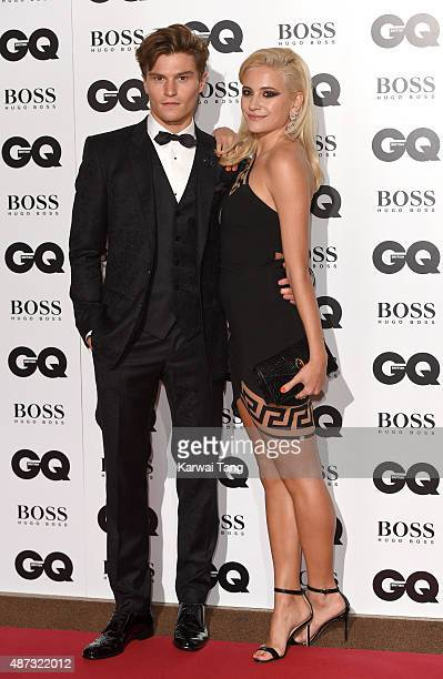 Pixie Lott and Oliver Cheshire attend the GQ Men Of The Year Awards at The Royal Opera House on September 8 2015 in London England