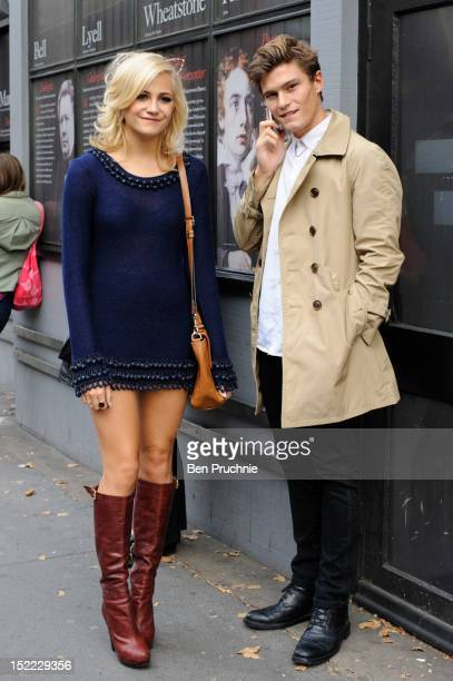 Pixie Lott and Oliver Cheshire sighted arriving at the Mark Fast fashion show during London Fashion Week S/S 2013 on September 17 2012 in London...