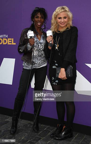 Pixie Lott and Sinitta attends a photocall to launch the Yahoo Yodel Studio as part of a search for the new Yahoo Yodel to feature in their global...