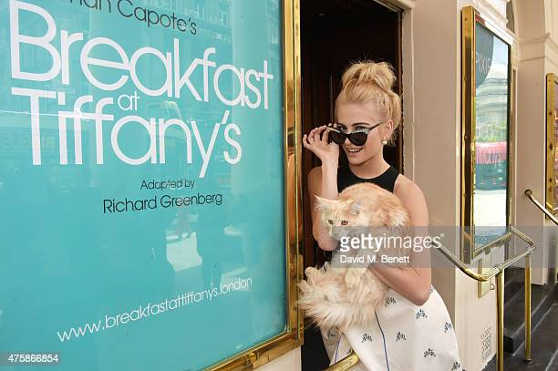 Pixie Lott announced to star as Holly Golightly in the 2016 Curve coproduction of 'Breakfast at Tiffany's' in London's West End and UK Tour poses...