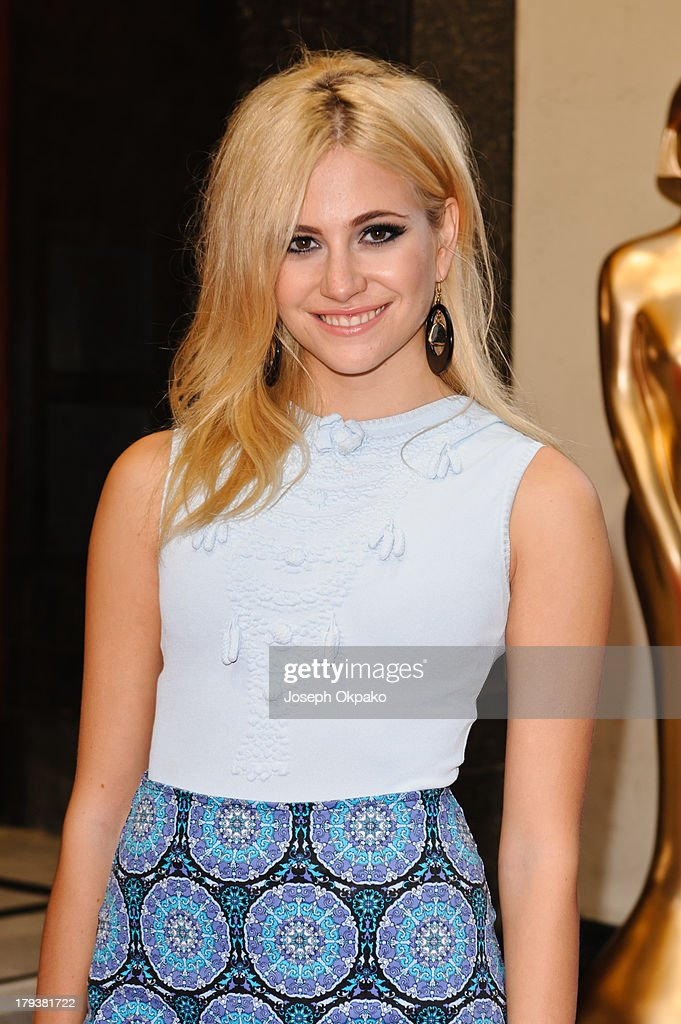 Pixie Lott arrives at Brits Icon Awards honouring Sir Elton John at London Palladium on September 2, 2013 in London, England.