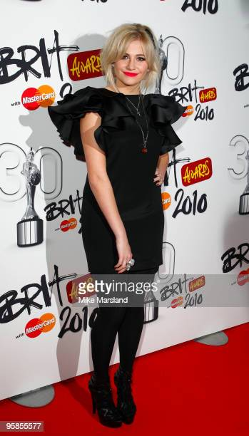 Pixie Lott arrives at the Brit Awards 2010 launch held the at The Indigo 02 on January 18 2010 in London England