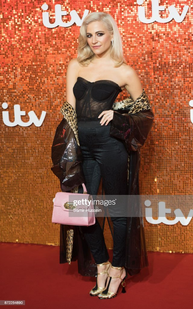 Pixie Lott arriving at the ITV Gala held at the London Palladium on November 9, 2017 in London, England.