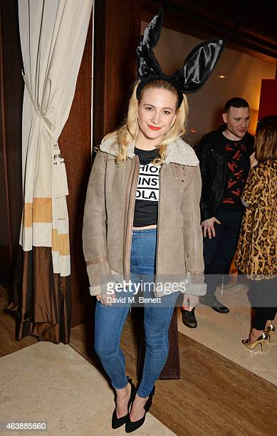 Pixie Lott attends an after party following the Fashion For Relief charity fashion show to kick off London Fashion Week Fall/Winter 2015/16 at Cut at...