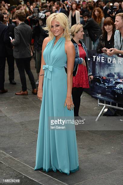 Pixie Lott attends European premiere of 'The Dark Knight Rises' at Odeon Leicester Square on July 18 2012 in London England